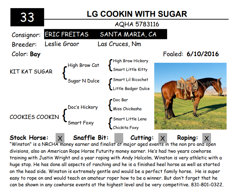 Lot 33 - LG COOKIN WITH SUGAR